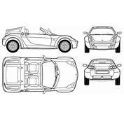 Smart Roadster Blueprint  Download Free For 3D