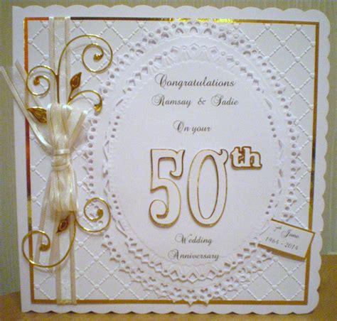 Golden Wedding Card Ideas