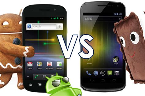 android 4 0 icecream sandwich android 2 3 gingerbread vs android 4 0 sandwich android authority