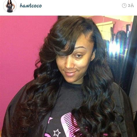 sew in hairstyles with side parts cute deep side part sew in side part middle part
