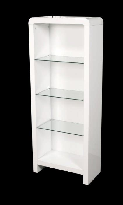 High Gloss White Bookcase Atlantis Clarus High Gloss White Bookcase Bookcases
