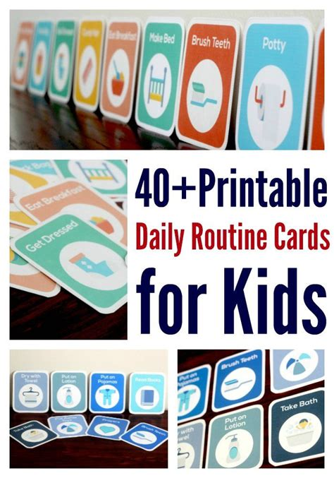 printable daily schedule cards how to get kids to follow a routine independently