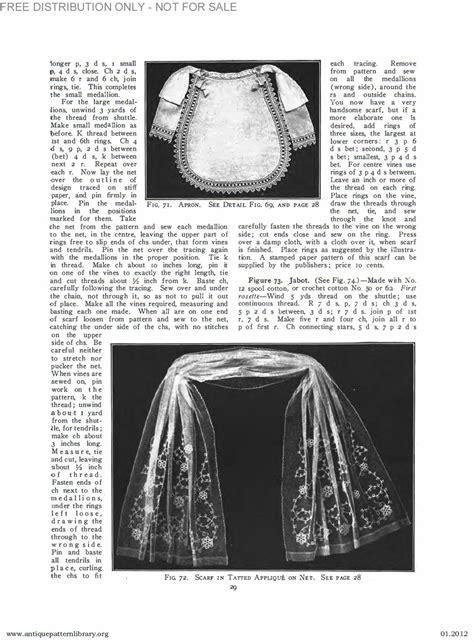 antique pattern library priscilla apl b ja034 priscilla tatting book no 2 page 30