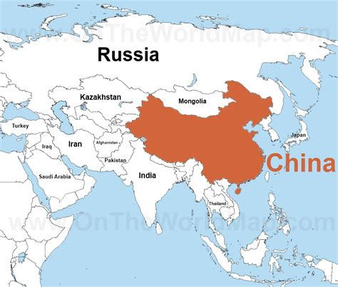 asia map china china on the world map china on the asia map