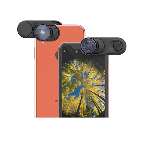 iphone xr olloclip lens includes fisheye wide and macro lenses picxtrix