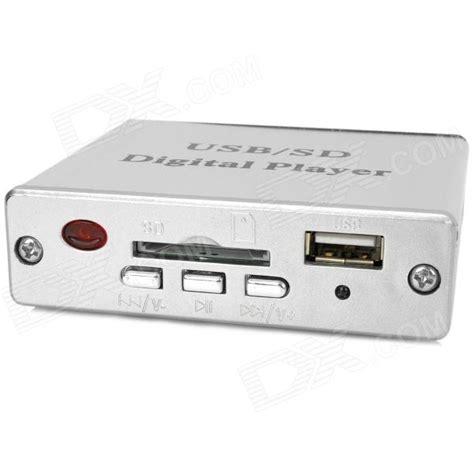 car mp3 digital player w sd usb 3 5mm audio remote controller silver free