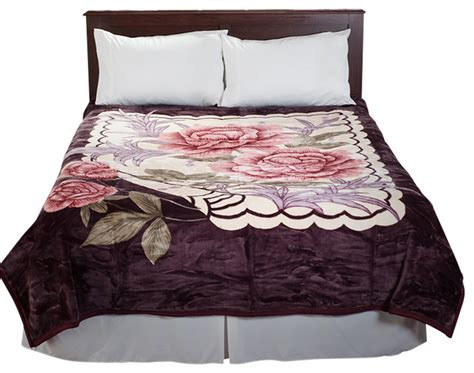 thick heavy comforters lavish home rose heavy thick plush mink blanket
