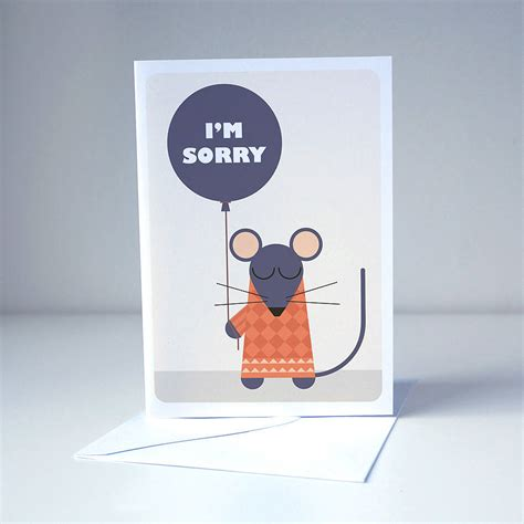 Sorry Cards Handmade - i m sorry card by room of imagination