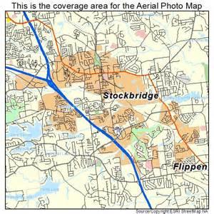 aerial photography map of stockbridge ga