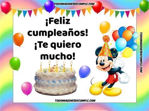 imagenes de feliz cumpleaños tiernas 12 im 225 genes de feliz cumplea 241 os con mickey