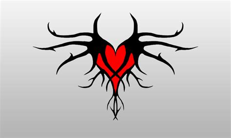 twisted heart tattoo twisted design by d3xmorph on deviantart
