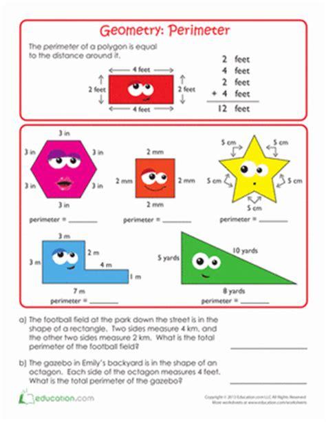 html define printable area geometry basics perimeter worksheet education com