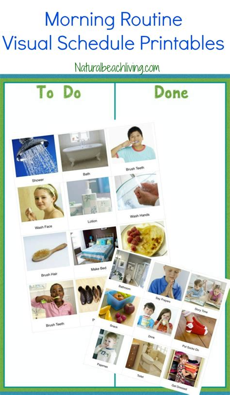 printable visual schedule pictures the perfect morning routine visual schedule printables