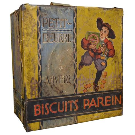Beautiful Things From Tins by Vintage Tin Biscuit Box Parein Antwerp Belgium Belgium