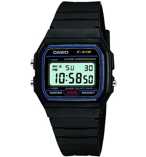 official retro black digital f 91w 1yer from casio