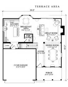 Square House Floor Plans by Amazing Square House Plans Large Open Terrace Two Cars