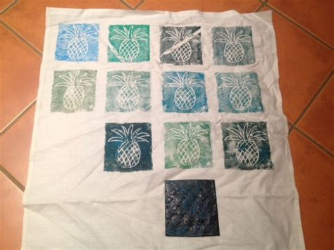 Handmade Prints - stencil for printing print pad