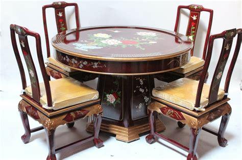 oriental dining room set furniture dinettes burgundy