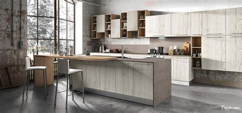 rustic italian modern kitchen design with wooden cabinet