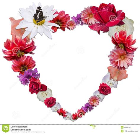 love heart made of flowers beautiful heart made of different flowers as a symbol of