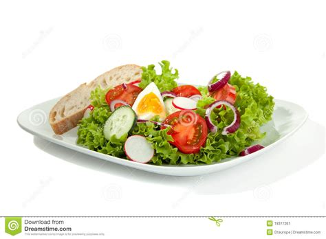 Complete Salad Plate Stock Image   Image: 19377261