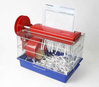 Hamster Powered Paper Shredder surgeonsblog august 2007