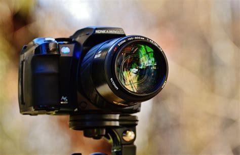 photo camera  minolta konica lens