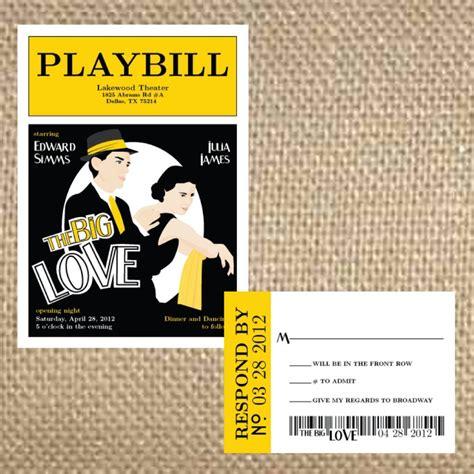 playbill wedding program like related keywords playbill