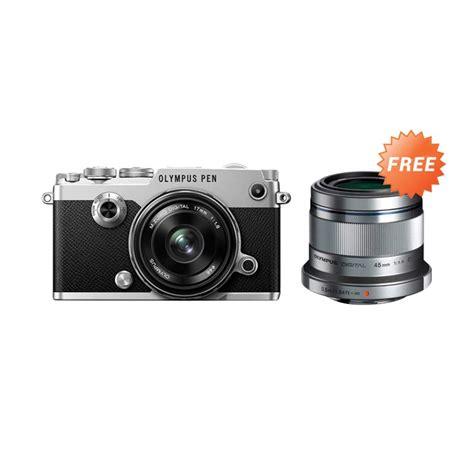 Kamera Olympus 8 Megapixel jual olympus pen f kit 17mm f 1 8 45mm f 1 8 kamera mirrorlees silver harga