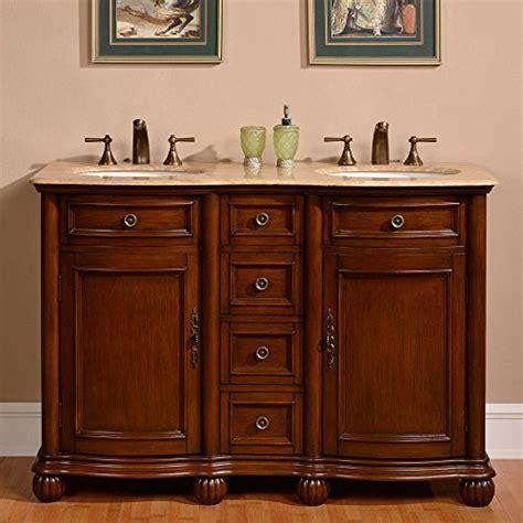 52 bathroom vanity cabinet silkroad exclusive countertop travertine double sink