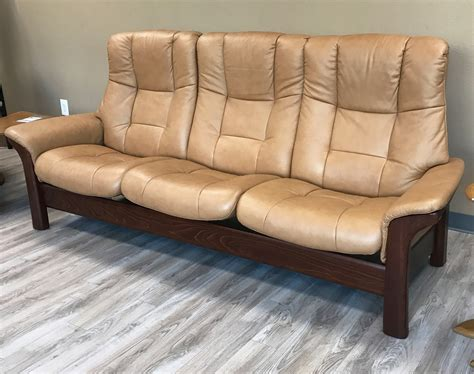 Stressless Buckingham Sofa by Stressless Buckingham 3 Seat High Back Sofa Taupe