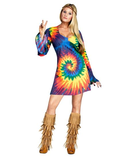 Dress Costume tie dye hippie dress womens costume hippie costumes