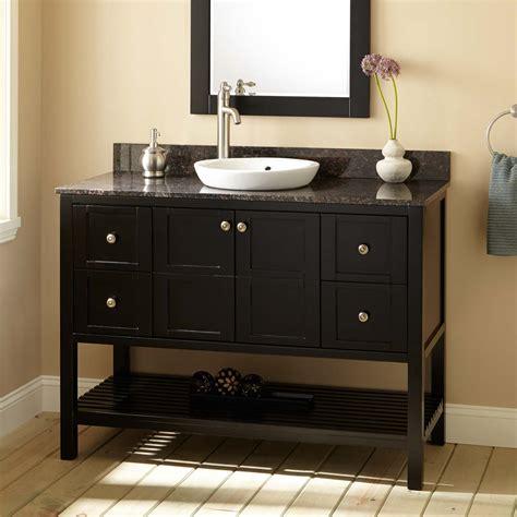 Metro Espresso Vanity Mirror With Shelf Bathroom Vanity With Shelves