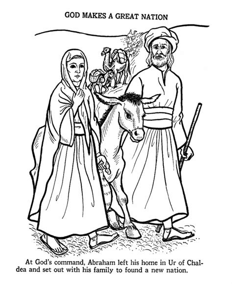 Bible Coloring Pages Abraham And Sarah | abraham and sarah coloring page coloring home