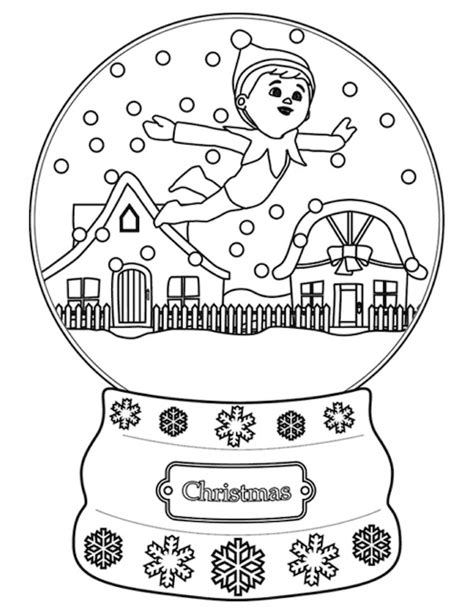 elf size coloring page christmas coloring pages