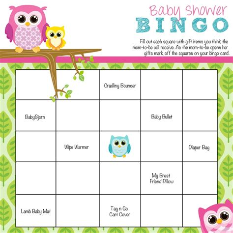 free templates for baby shower bingo baby shower bingo games free printable baby shower