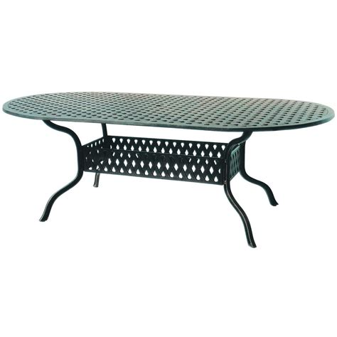 42 Inch Patio Table by Darlee Series 30 84 X 42 Inch Cast Aluminum Patio Dining