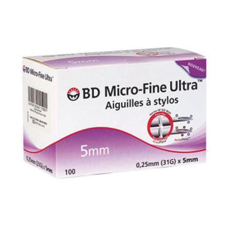 Bd Micro 5mm bd micro ultra agujas bol 237 grafos de insulina 5mm 100 unidades