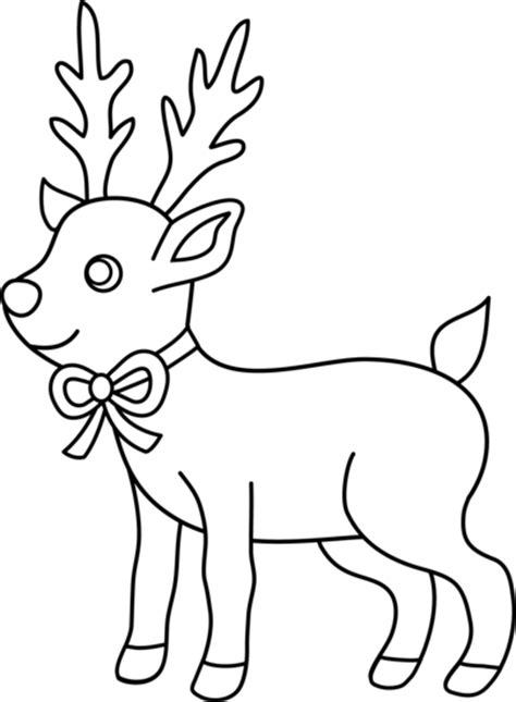 reindeer outline coloring page christmas reindeer coloring page free clip art