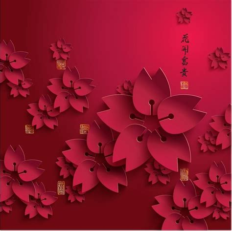 new year 2016 paper cutting template free vector paper cutting flower new year