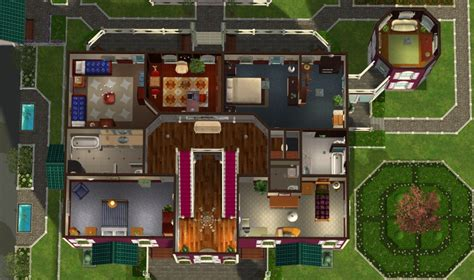 sims 2 house floor plans mod the sims green hills mansion no cc
