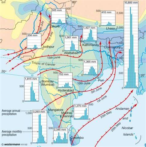 monsoon asia map maps south asia monsoon diercke international atlas