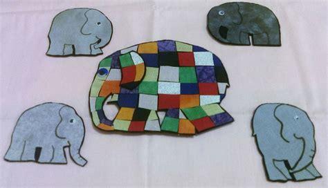 Patchwork Elephant Book - elmer the patchwork elephant flannel story