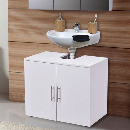 Bath Sink Storage by Costway Non Pedestal Sink Bathroom Storage Vanity