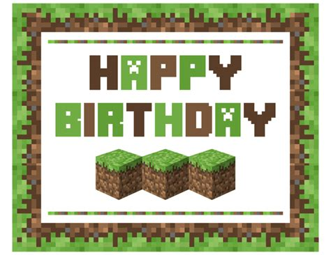 minecraft birthday card template free minecraft printables catch my