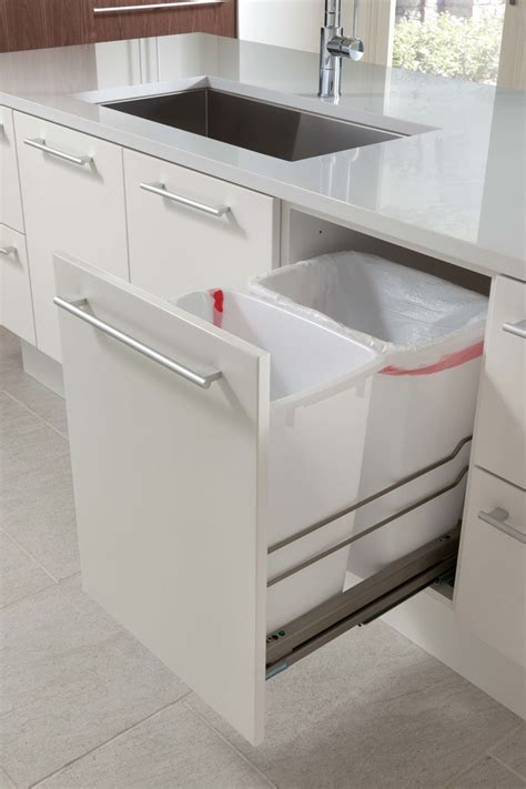Kitchen Dustbin Cabinet Kitchen Design Idea Hide Pull Out Trash Bins In Your Cabinetry Contemporist