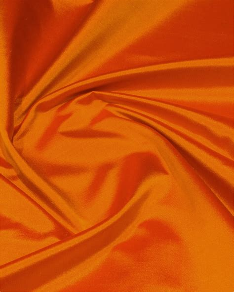 silk color mustard with orange shade color plain satin silk fabric