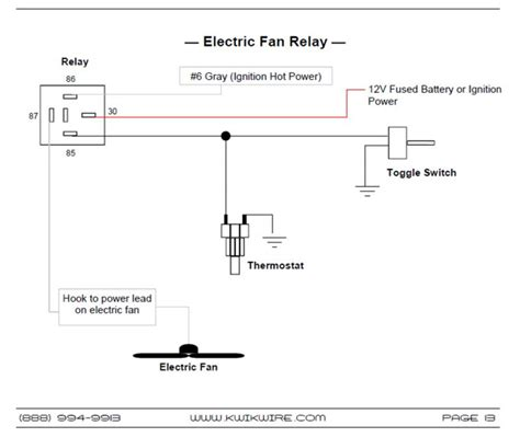 electric fan relay install wiring diagram electric fan wiring diagram spal electric