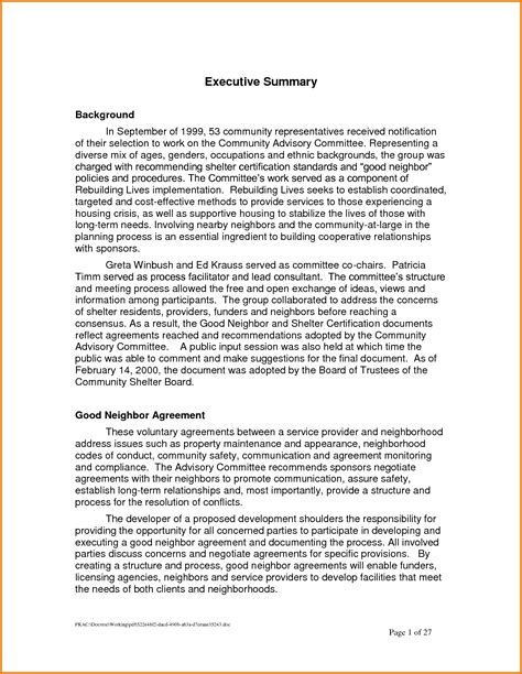 executive report template doc 10 executive summary template doc financial statement form