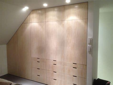 birch ply wardrobe  fine balance carpentry fitted